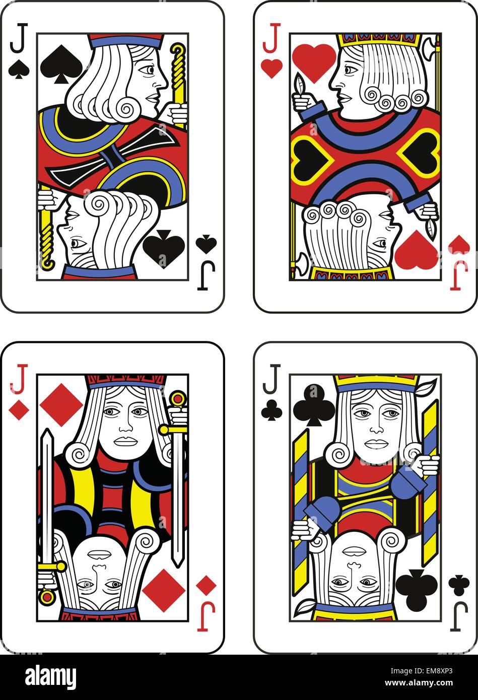 Quatre valets. Design original Photo Stock