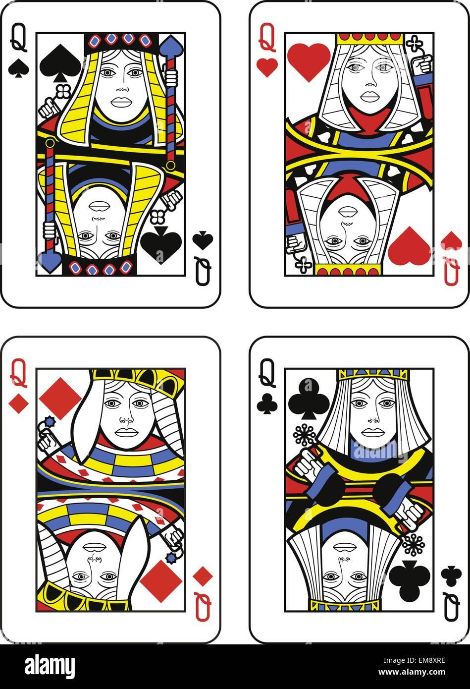 Quatre reines. Design original Photo Stock