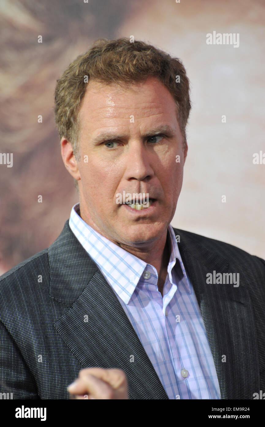 LOS ANGELES, CA - 25 mars 2015 : Will Ferrell au Los Angeles première de son film 'Obtenir dur' Photo Stock