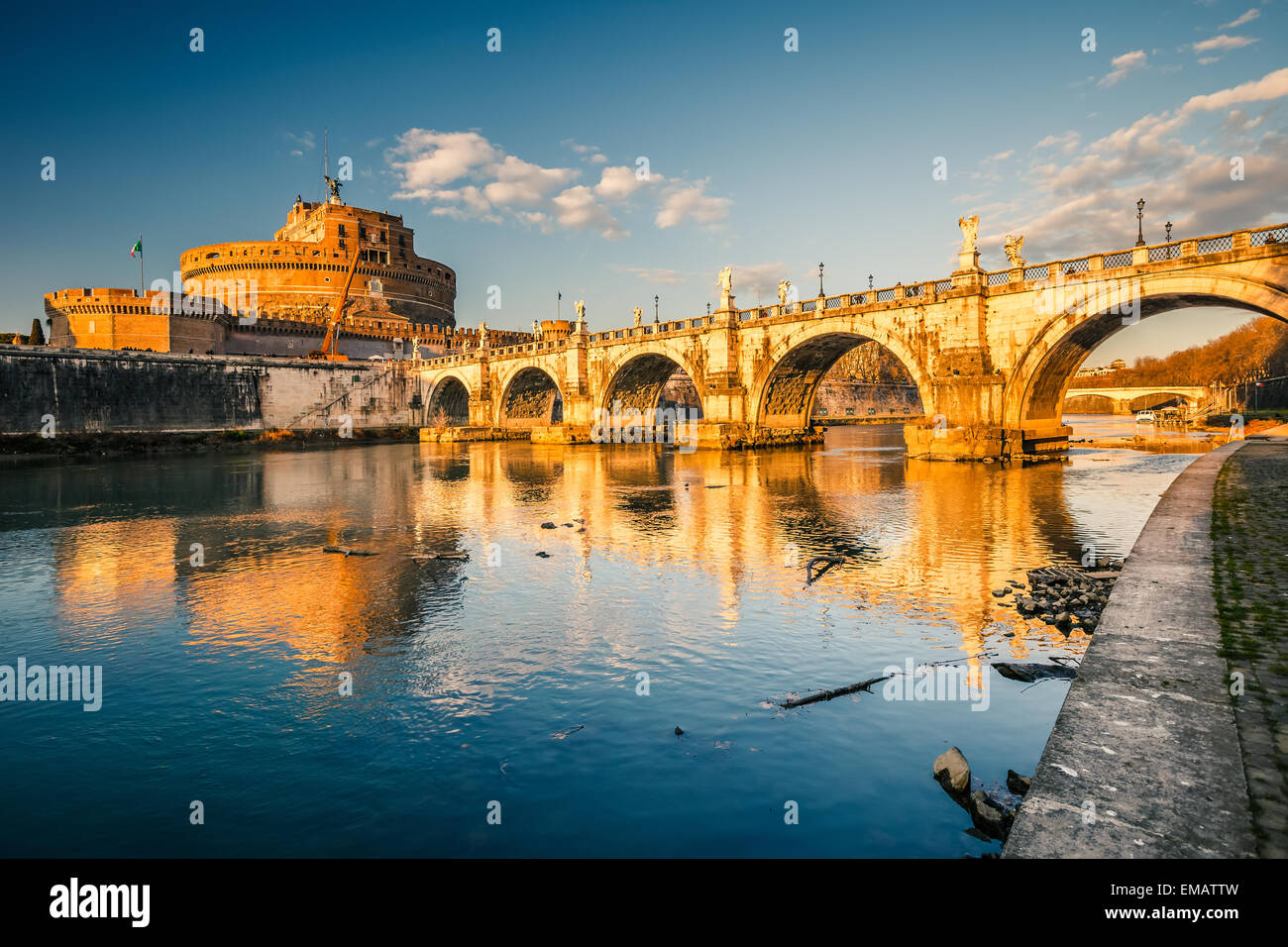 Sant'Angelo fortress, Rome Photo Stock