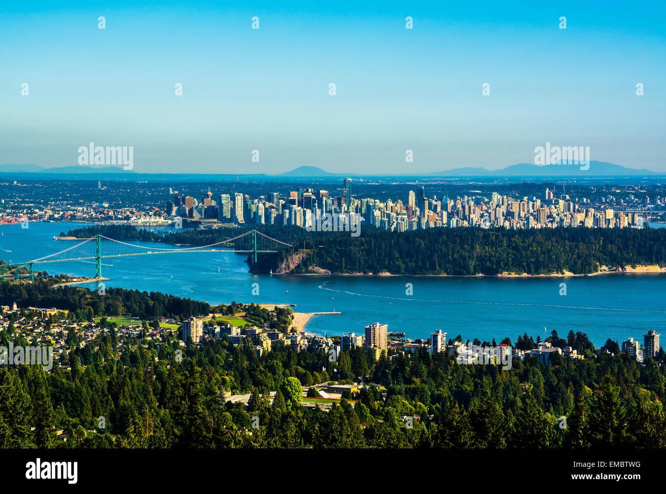 Vue aérienne de Vancouver, Canada Photo Stock