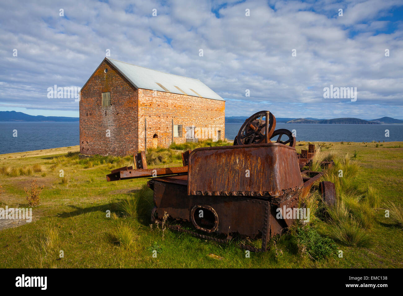 Condamner Barn (c.1844) - Maria Island National Park - Tasmanie - Australie Photo Stock