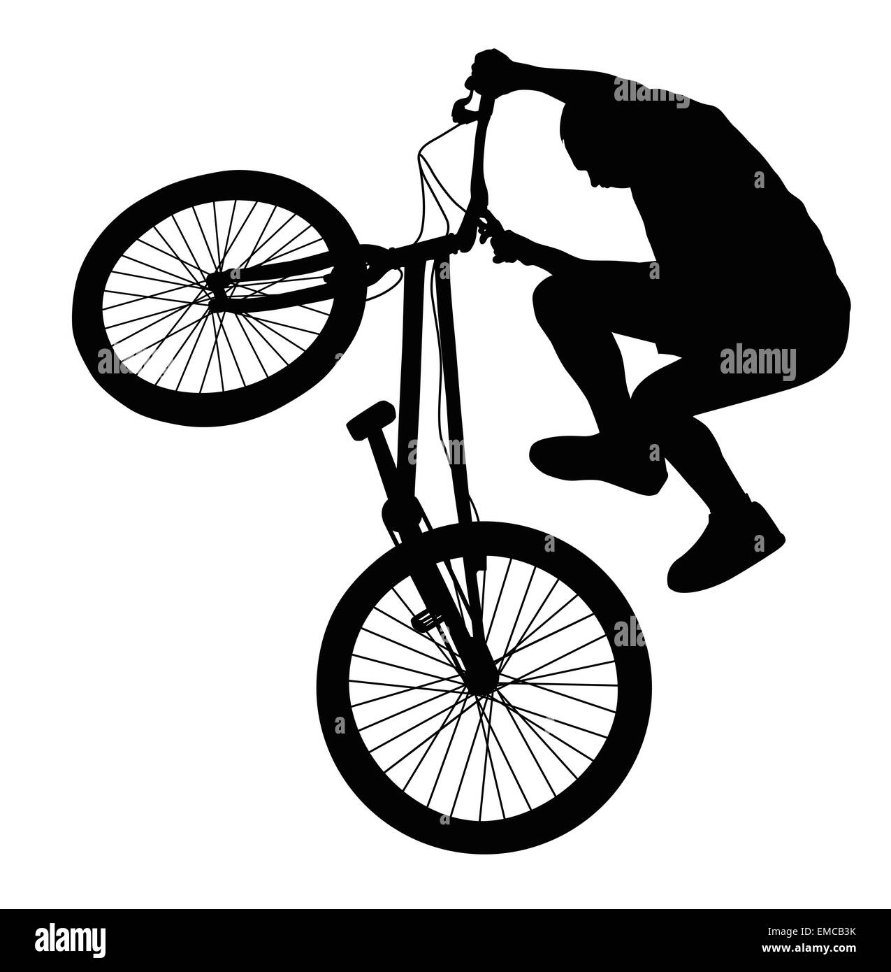 Silhouette vecteur Biker Photo Stock