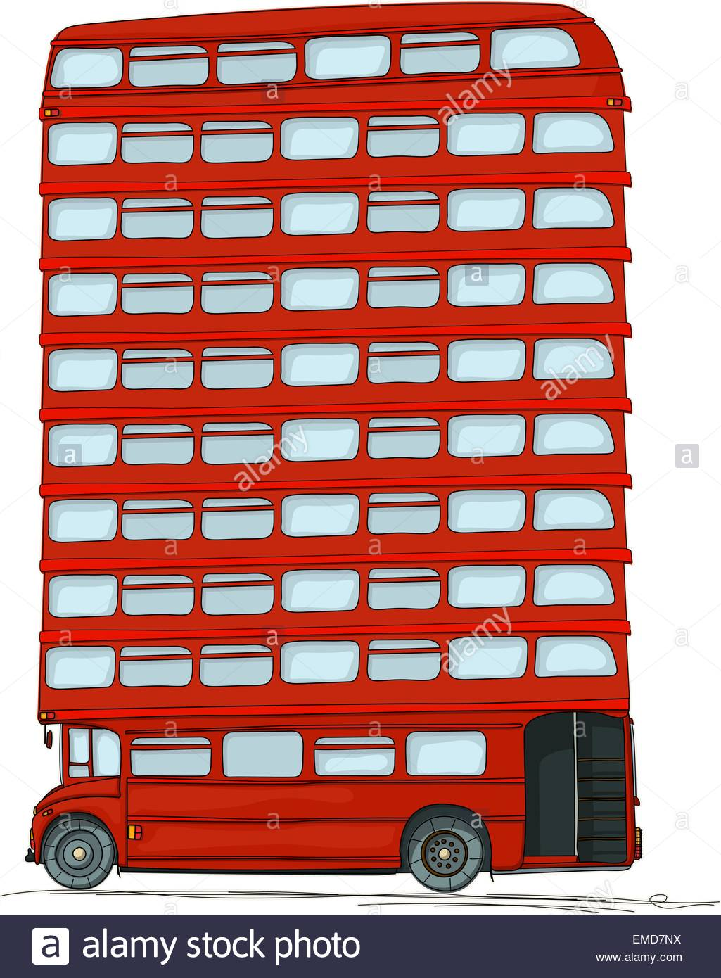 Bus anglais Photo Stock