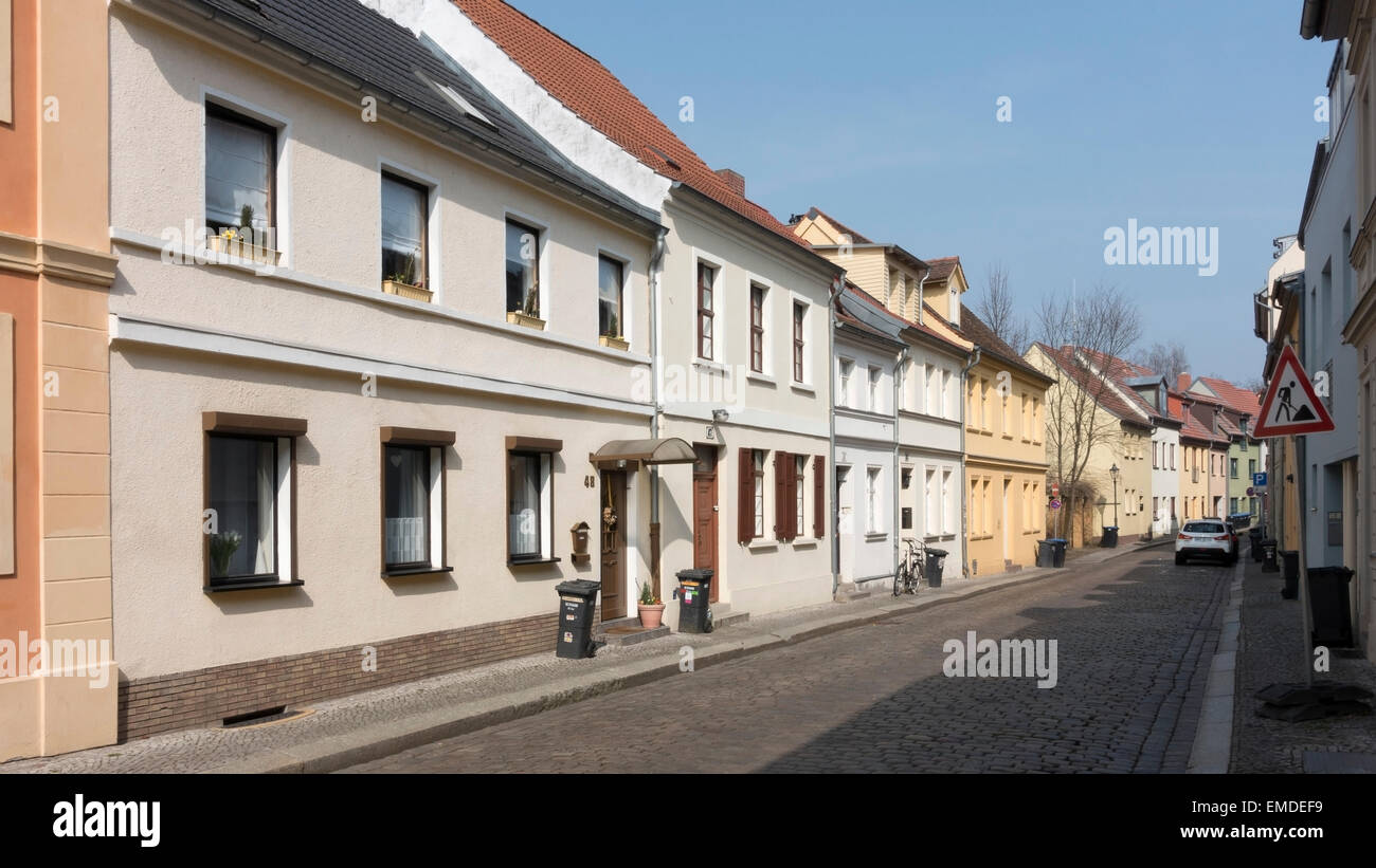Rue résidentielle de Brandebourg -1 Photo Stock