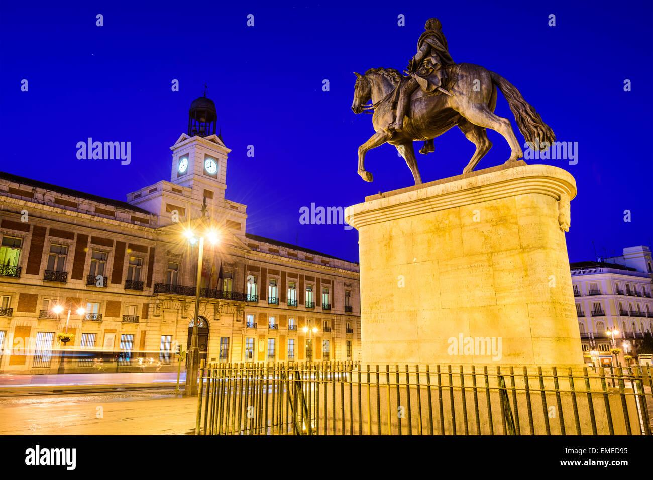 Madrid, Espagne à Puerta del Sol. Photo Stock