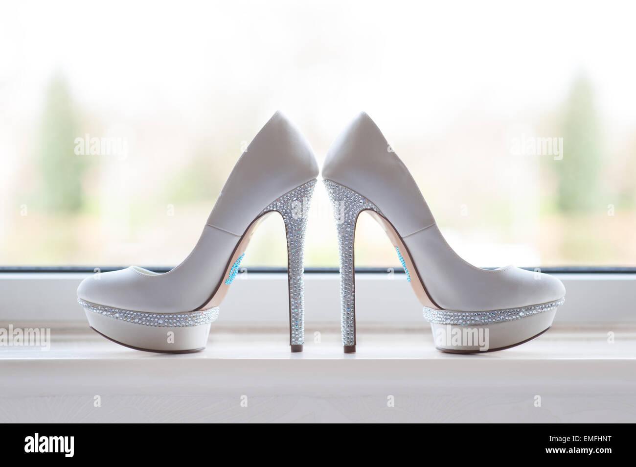 Brides chaussures de mariage Photo Stock