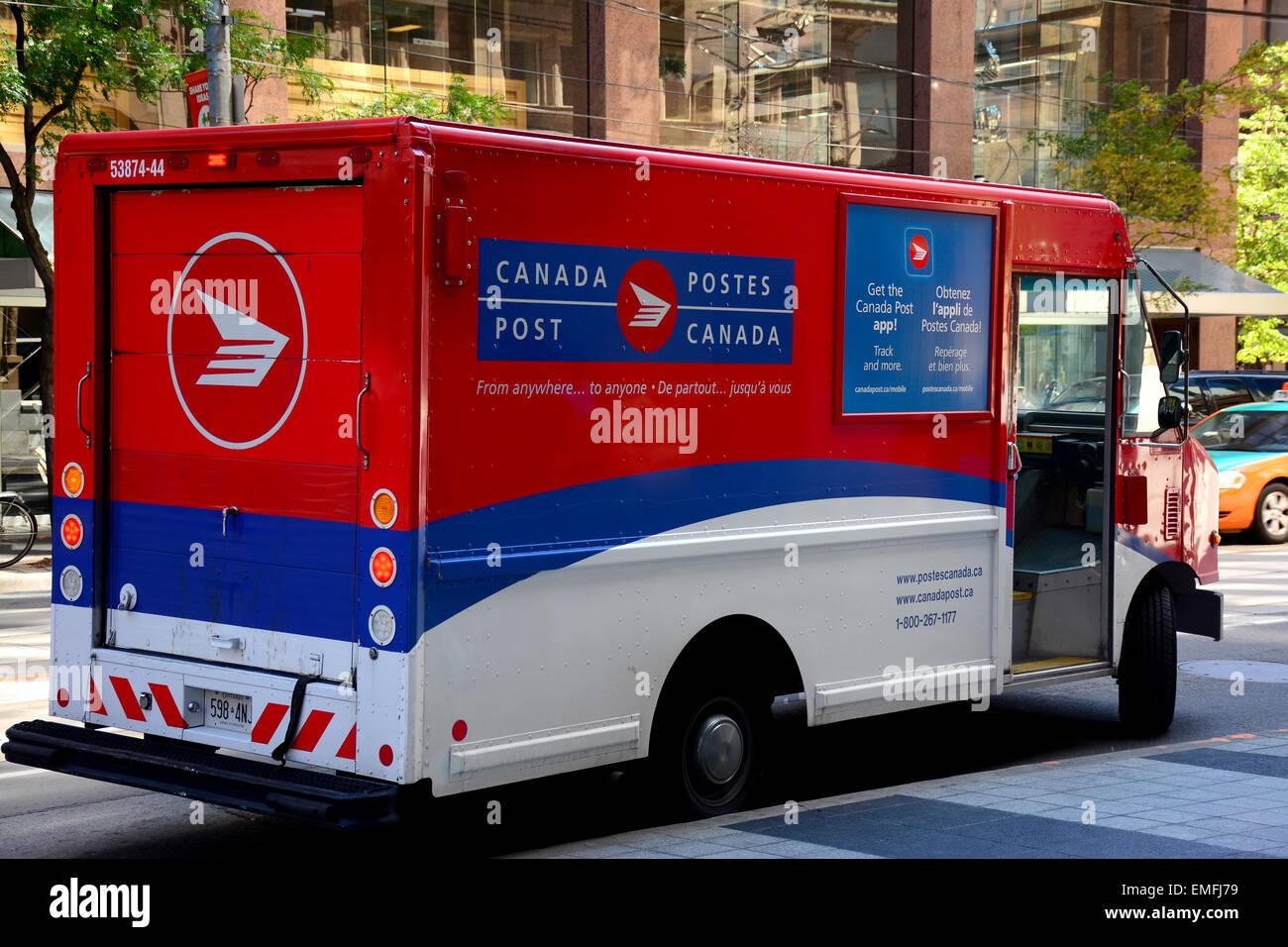 Véhicule de Postes Canada Photo Stock