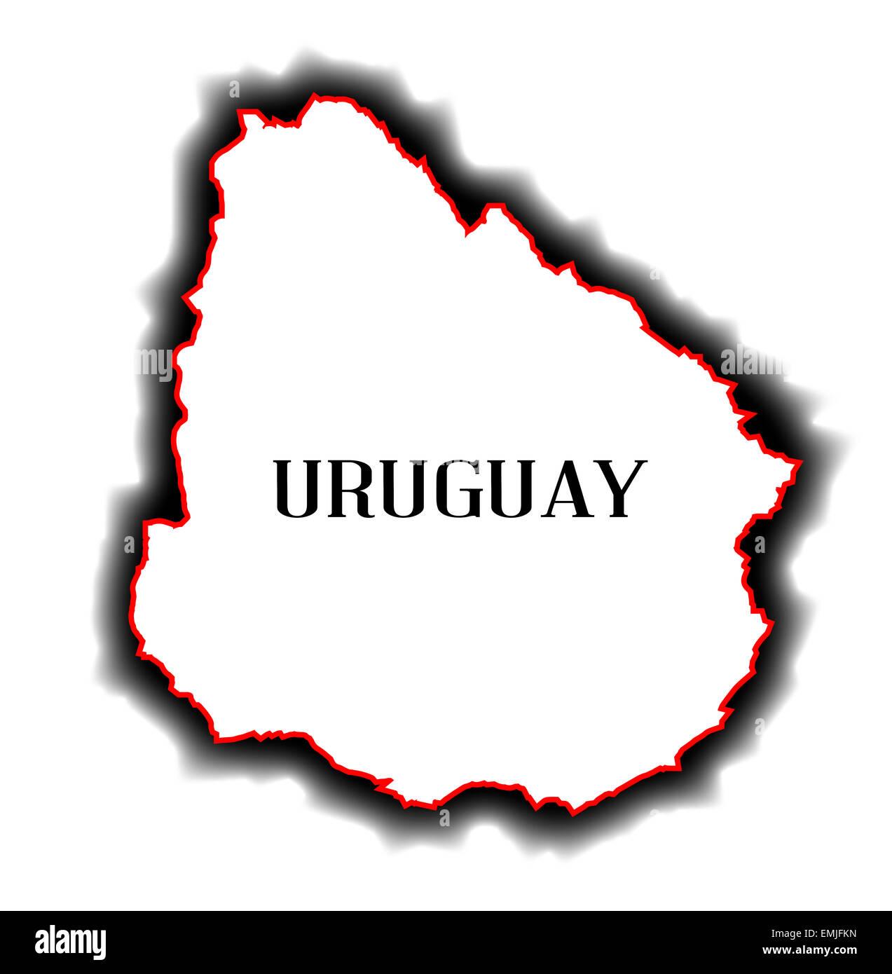 Carte Amerique Latine Uruguay.Contours De Carte Vide Le Pays De L Amerique Du Sud De L Uruguay