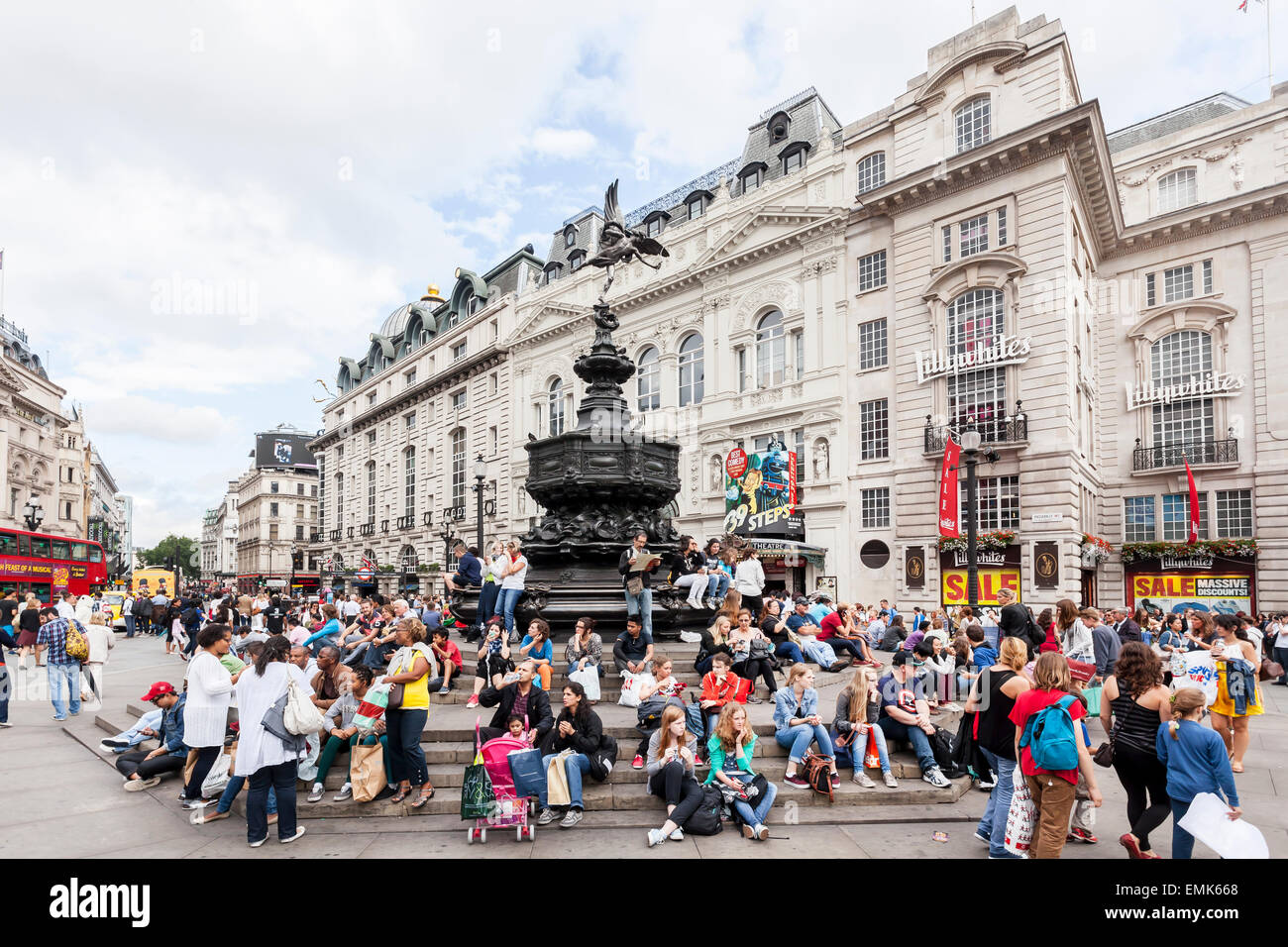 Piccadilly Circus, Londres, Angleterre, Royaume-Uni Photo Stock