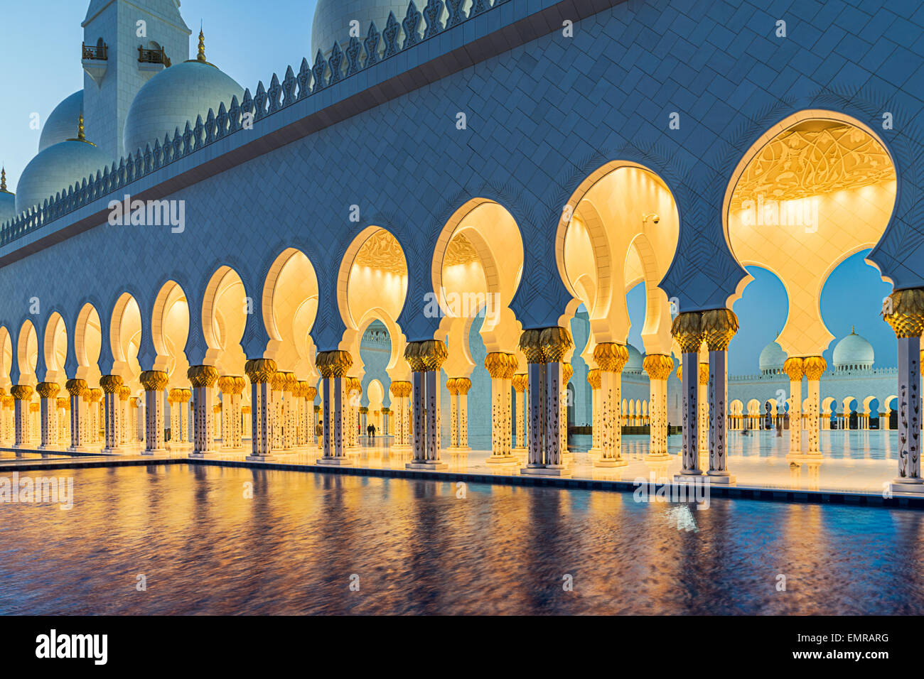 Grande Mosquée de Sheikh Zayed à Abu Dhabi Photo Stock