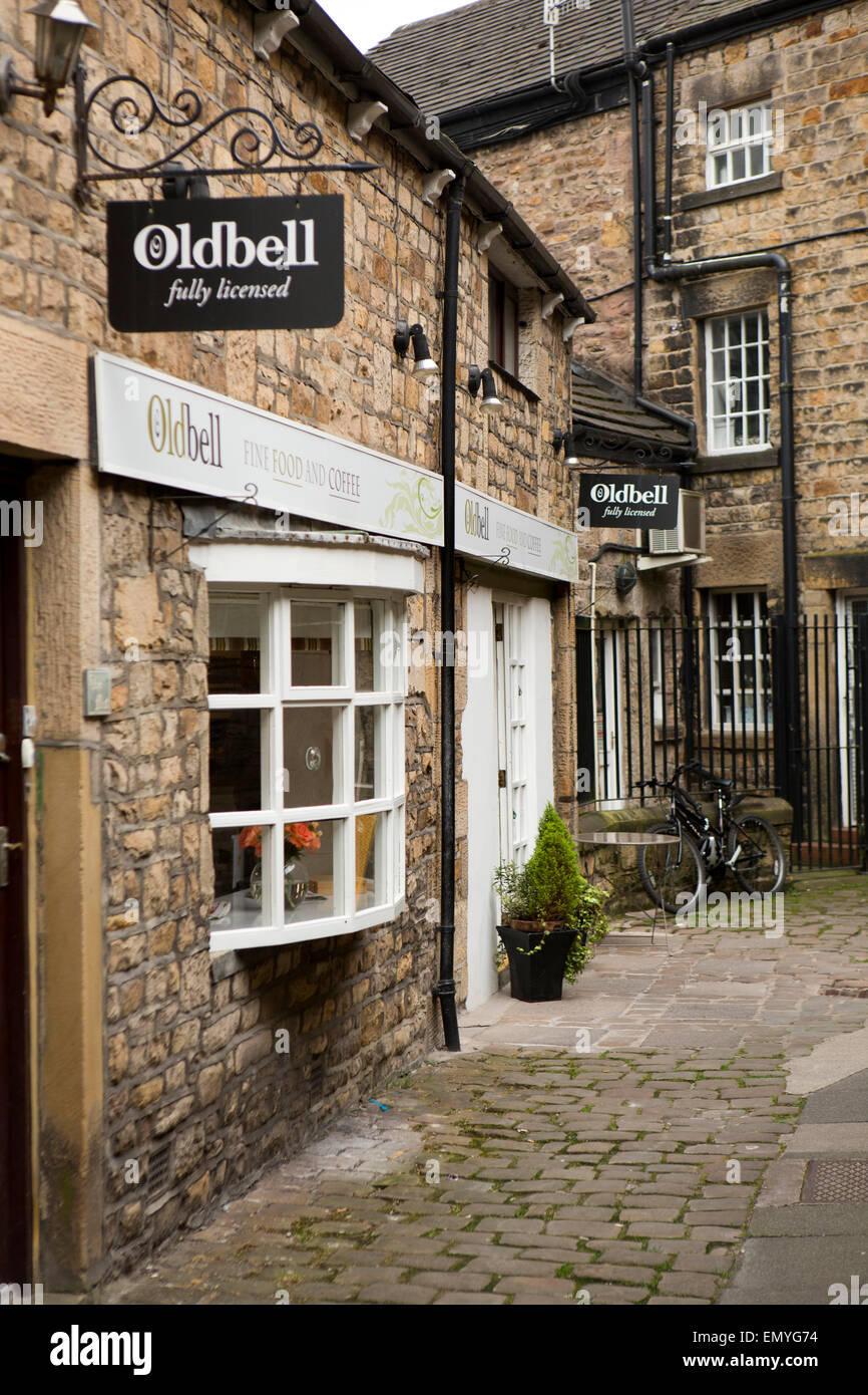 Royaume-uni, Angleterre, dans le Lancashire, Lancaster, exigu Alley, ancien Bell Coffee House Photo Stock