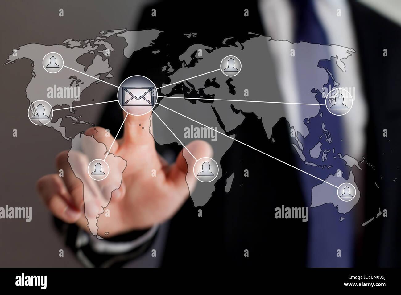 Liste de courrier, email marketing concept Banque D'Images
