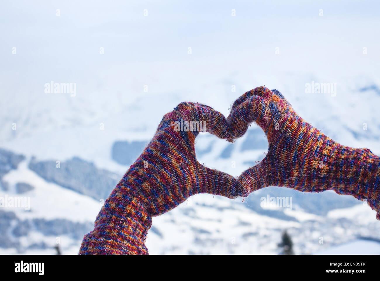 hiver de l'amour Photo Stock