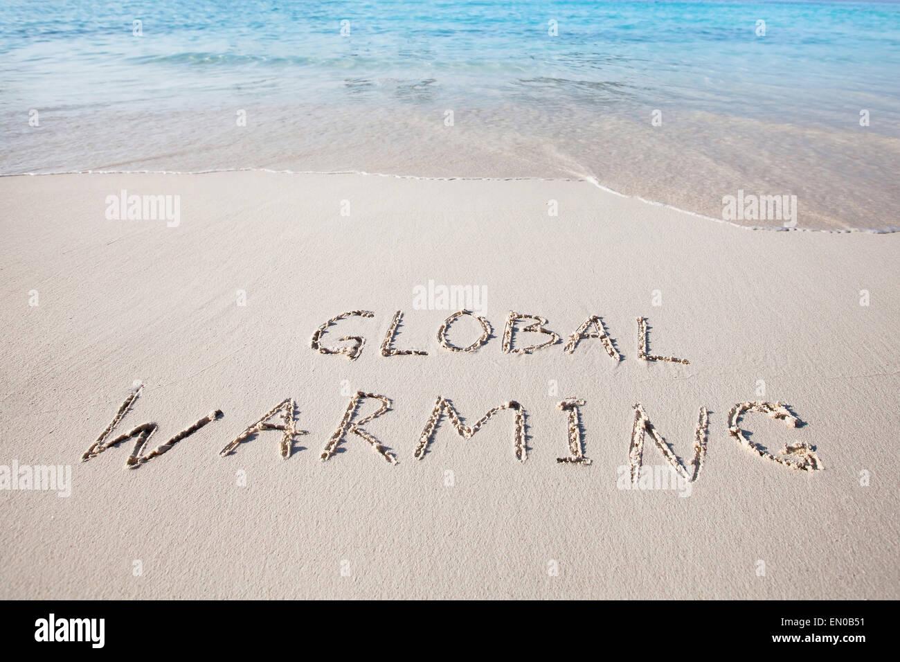 Le réchauffement de la notion Photo Stock