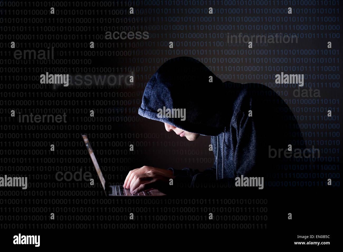 Concept de sécurité internet Photo Stock