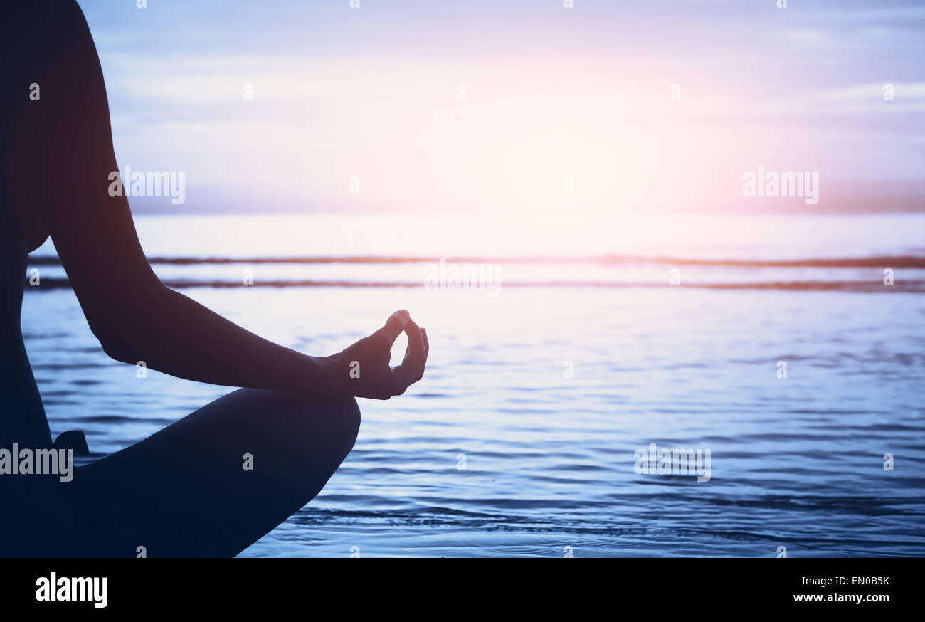 Bien-être, yoga concept background Photo Stock