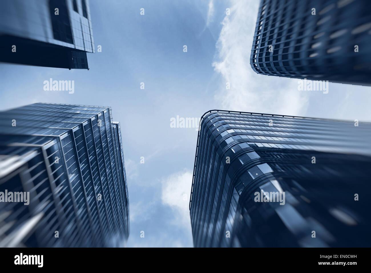Les bâtiments d'entreprise de haute technologie Photo Stock
