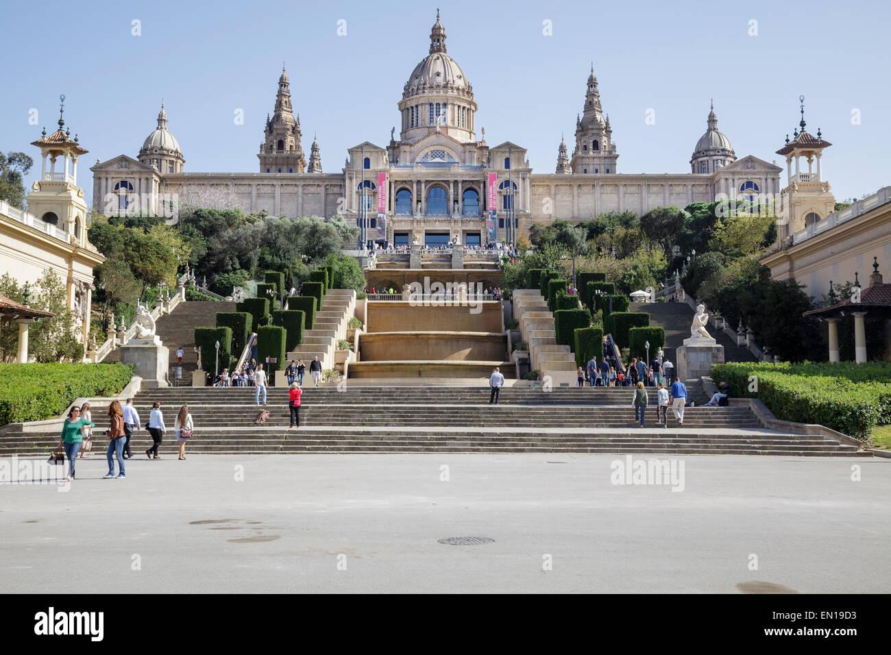 Musée national d'Art de Catalogne, Barcelone, Catalogne, Espagne Photo Stock