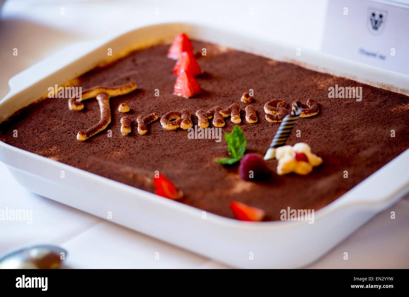 Dessert tiramisu italien sucré Photo Stock