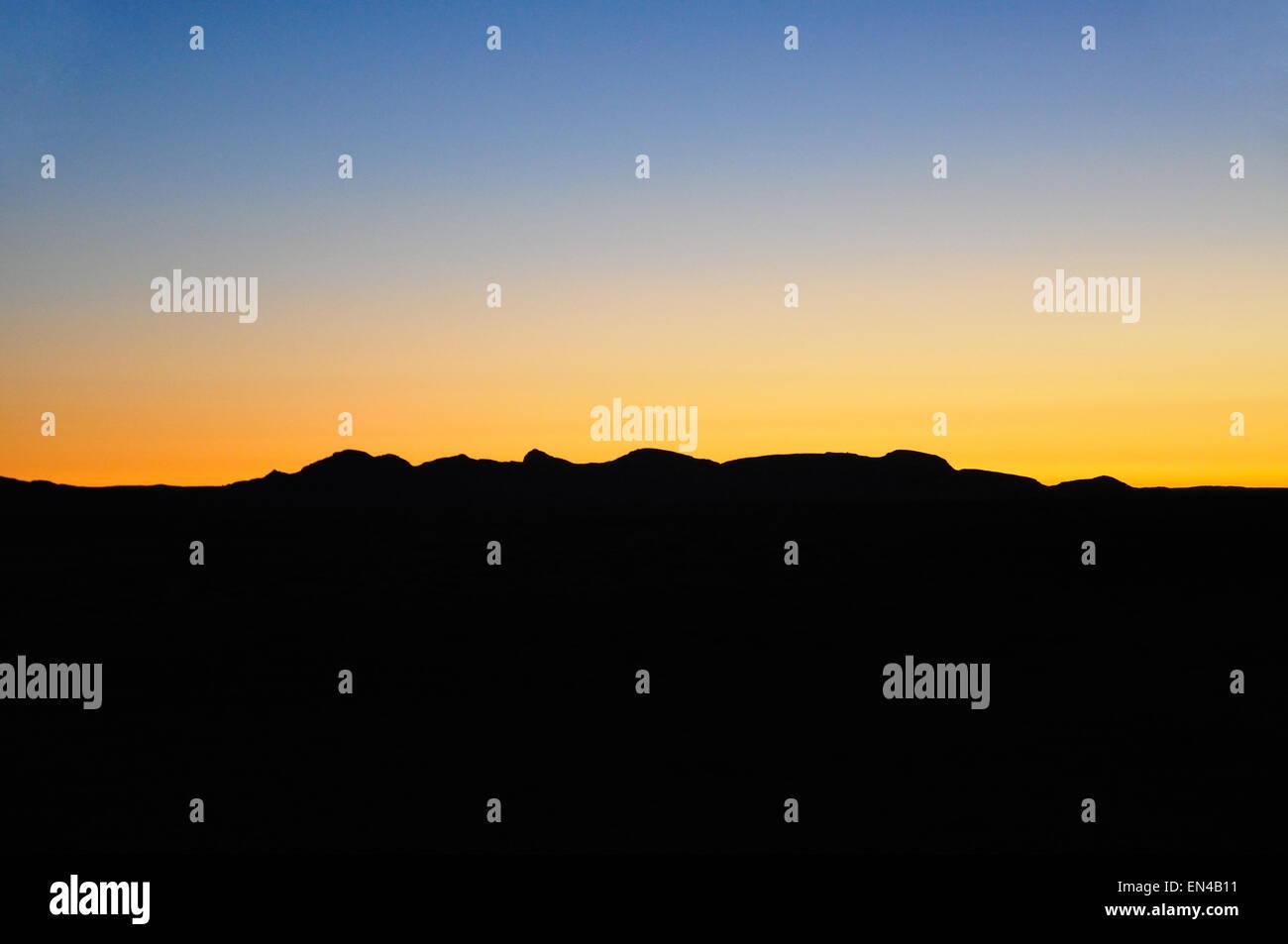 Au coucher du soleil, le Solitaire Lodge Namib Naukluft, Désert du Namib, Namibie Photo Stock