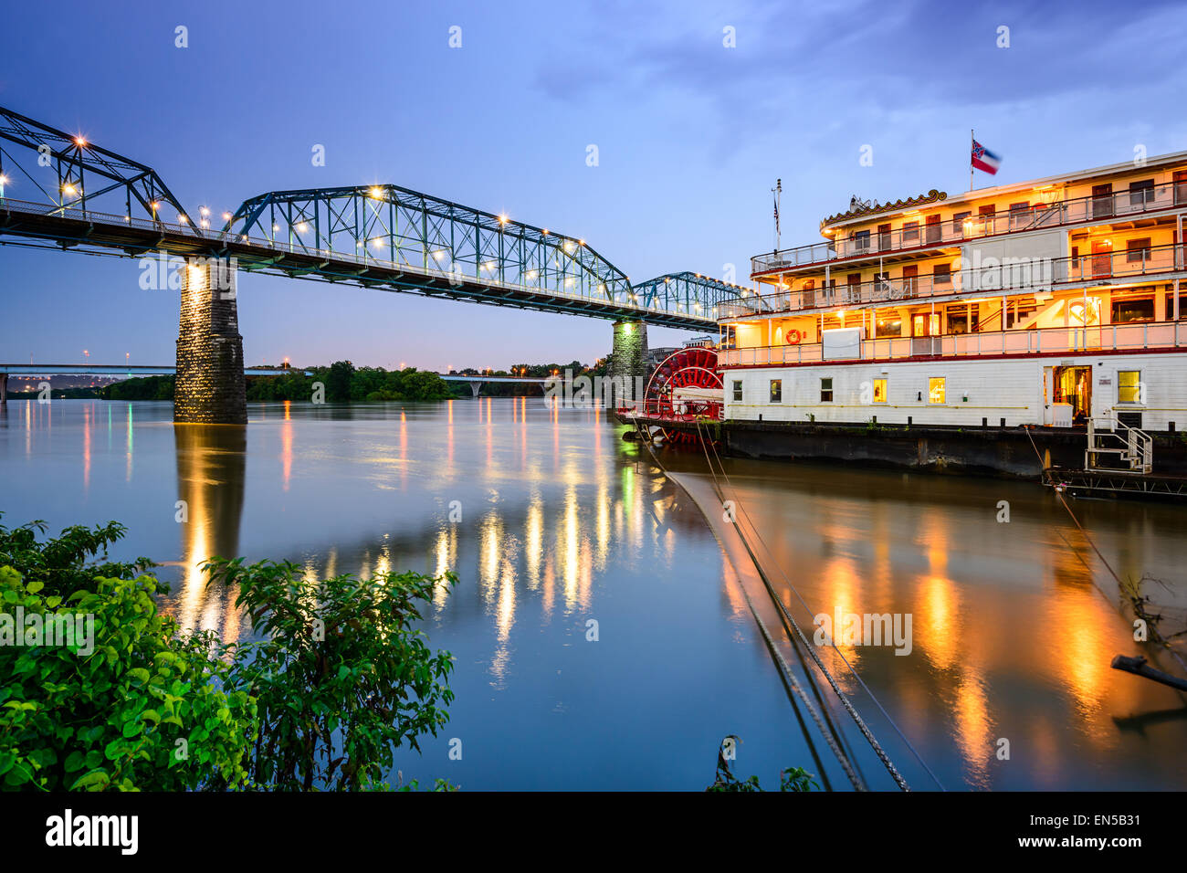 Chattanooga, Tennessee, USA riverfront. Photo Stock
