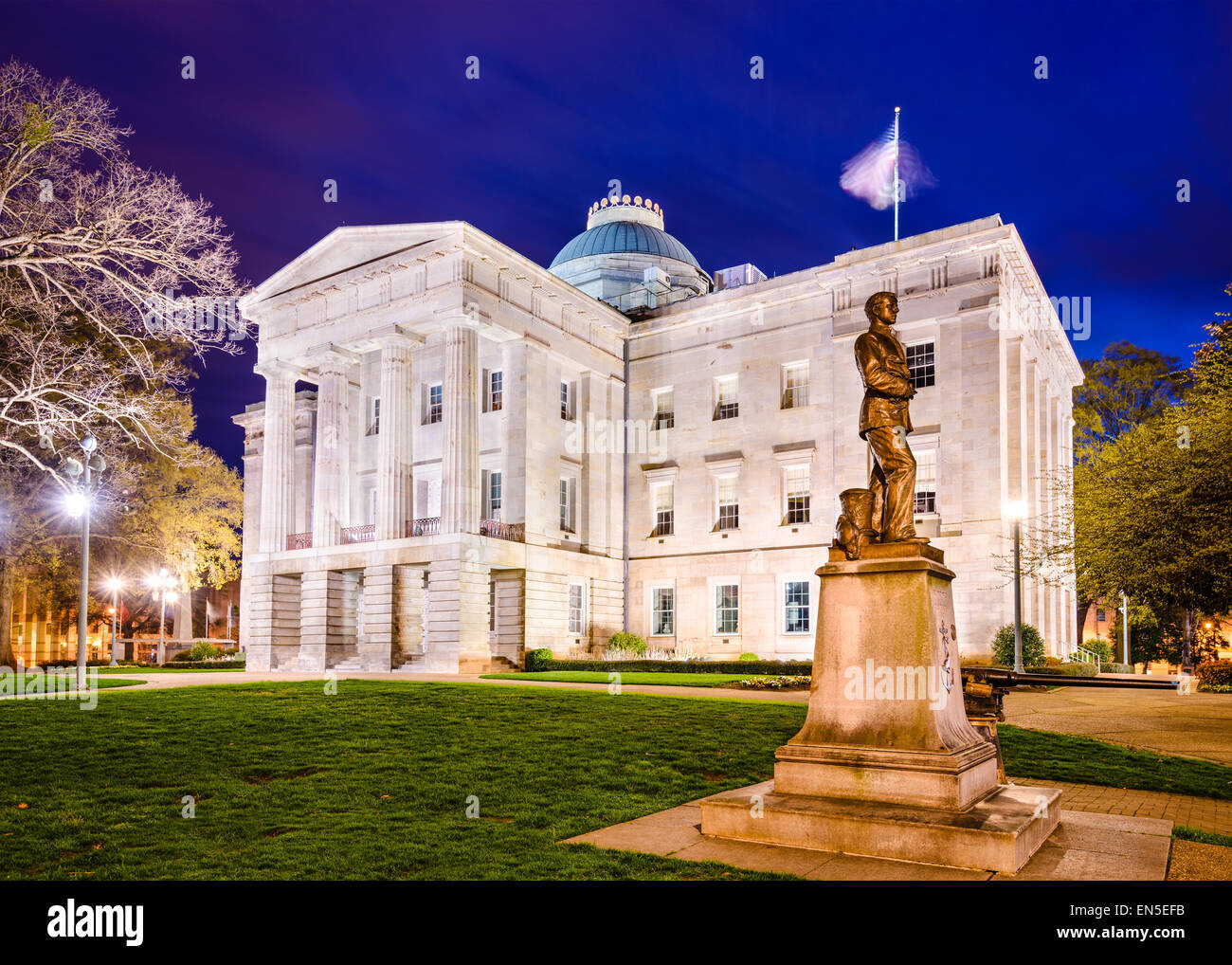 Raleigh, Caroline du Nord, USA State Capitol Building. Photo Stock
