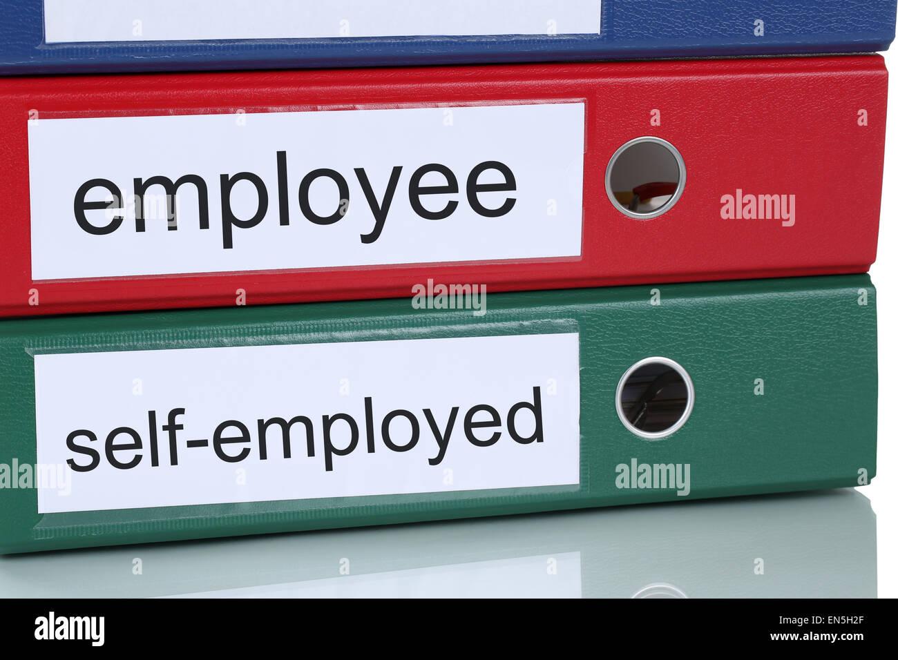 Employé ou travailleur indépendant… poste business concept in office Photo Stock