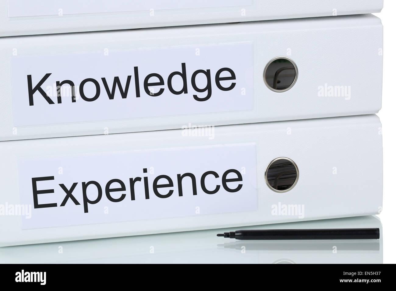 Avec les connaissances et l'expérience de la réussite du concept d'entreprise Photo Stock