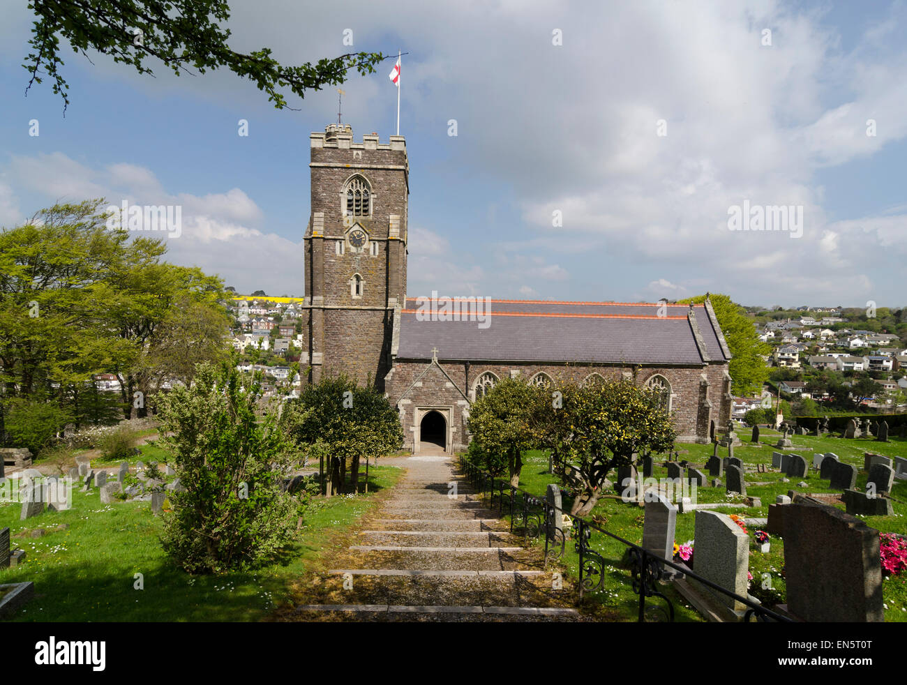 Église Saint-Pierre de Noss Mayo Banque D'Images