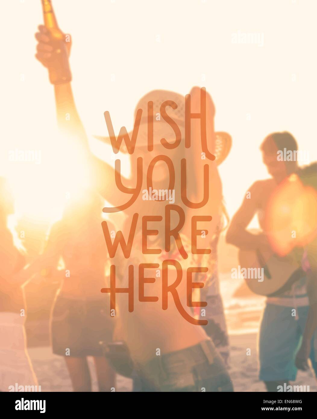 Wish You Were Here vector Photo Stock