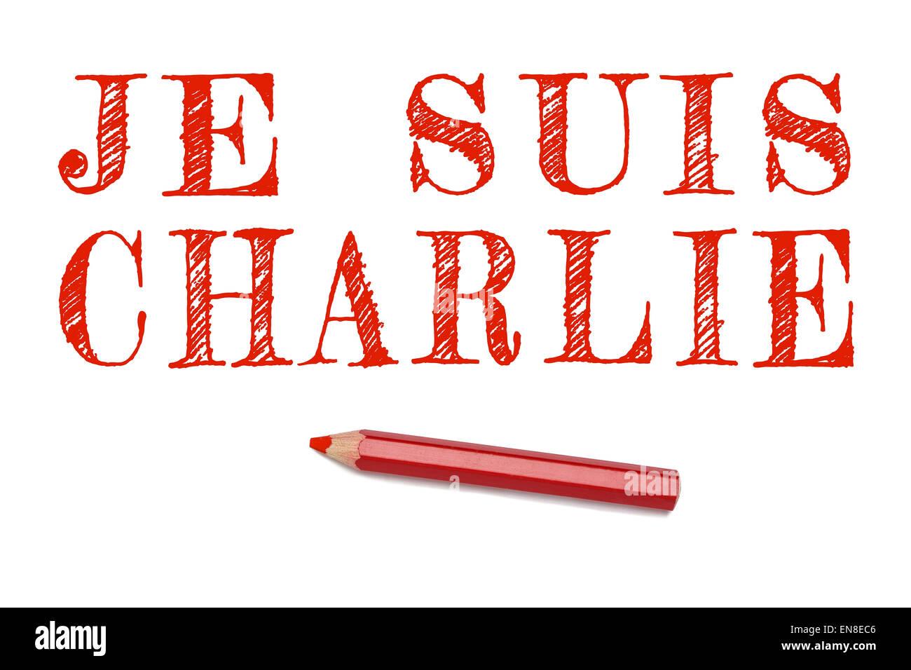 Je Suis Charlie Texte En Français Contours Dessiner Crayon