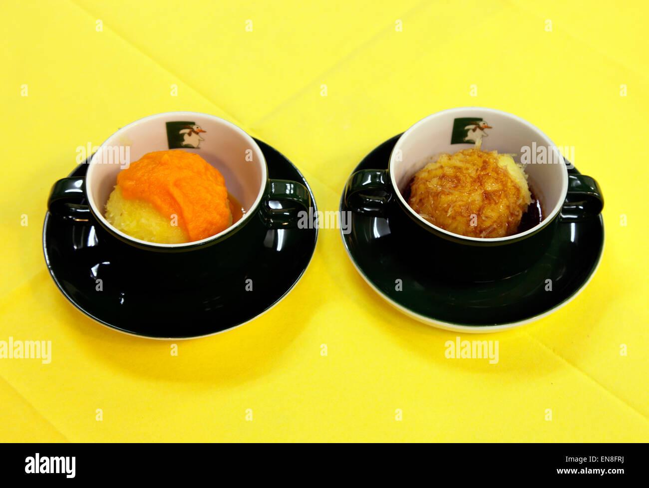 Les boulettes de Thuringe traditionnels Banque D'Images
