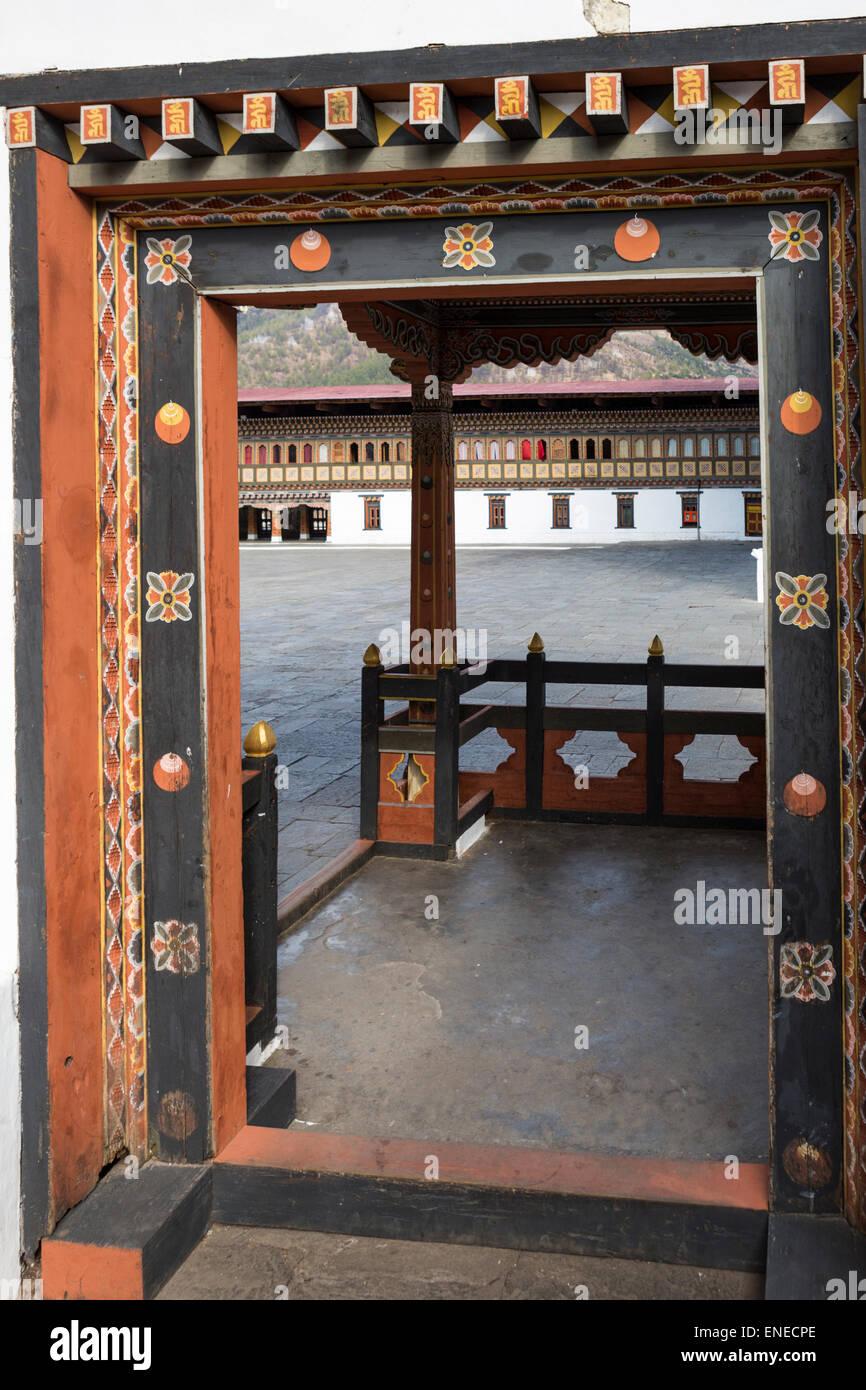 Trashi Chhoe Dzong, Thimphu, Bhoutan, Asie Photo Stock