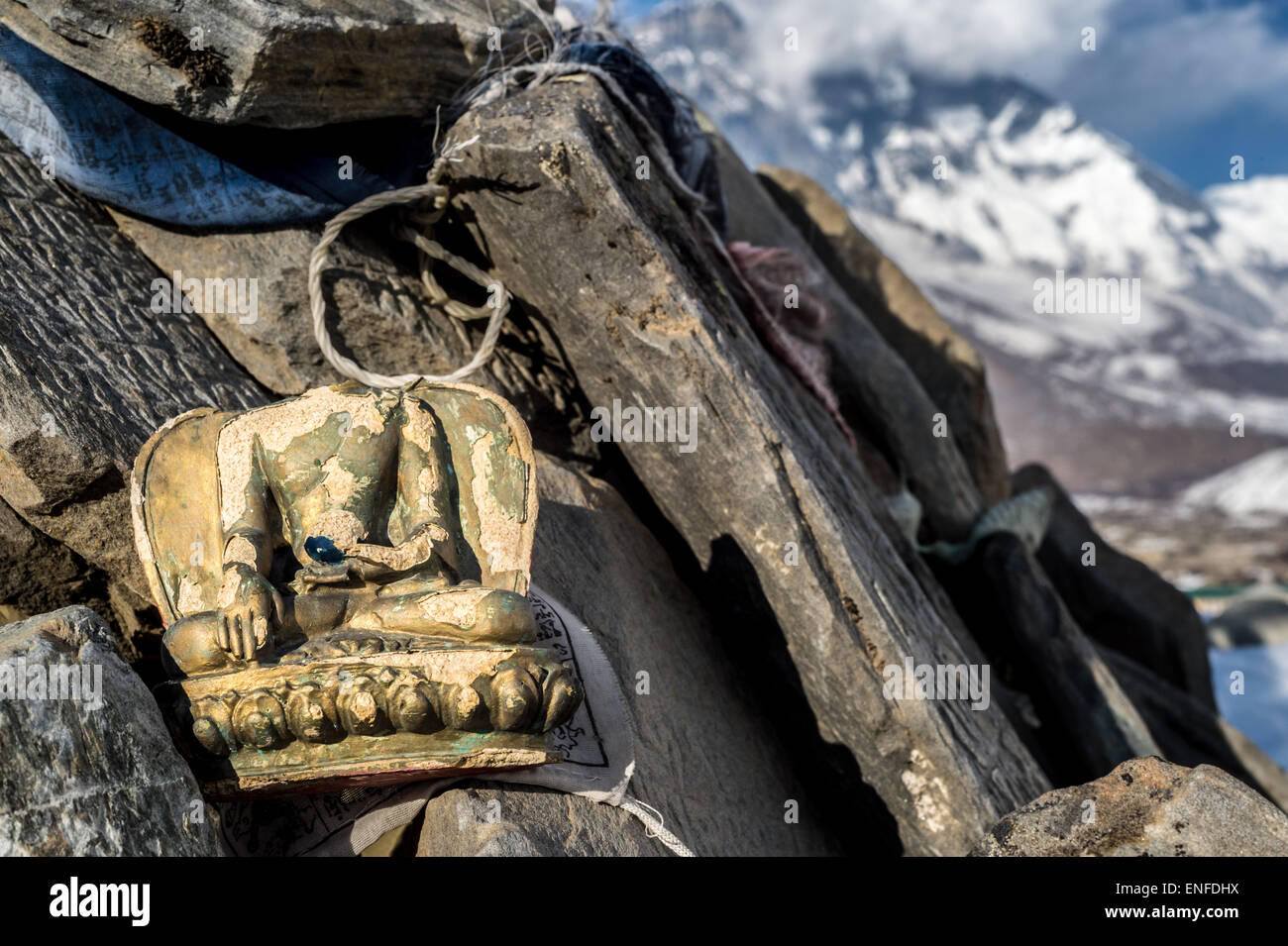 Headless Buddha figurine dans la région de l'Everest, au Népal Photo Stock