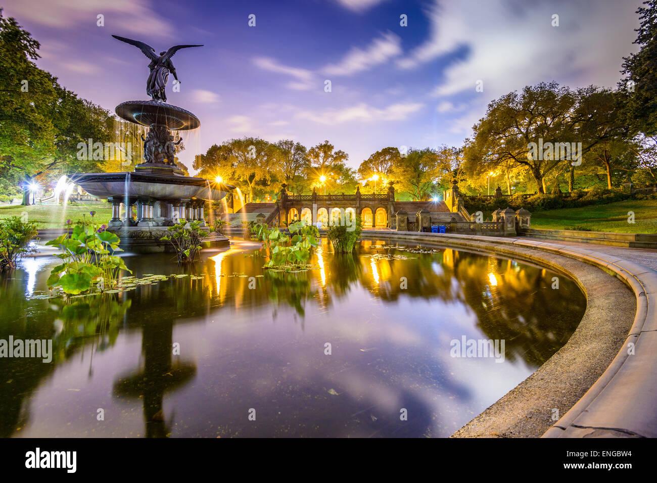 La ville de New York, USA au Terrasse Bethesda dans Central Park. Photo Stock