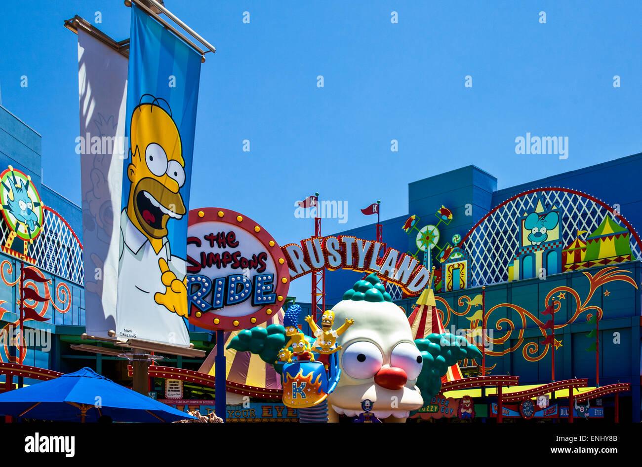 États-unis, Californie, Los Angeles, Hollywood, Universal Studios les centres de divertissement Photo Stock
