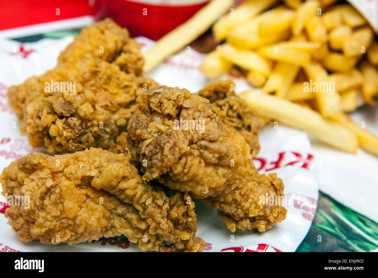 KFC, repas menu Hot Wings Photo Stock