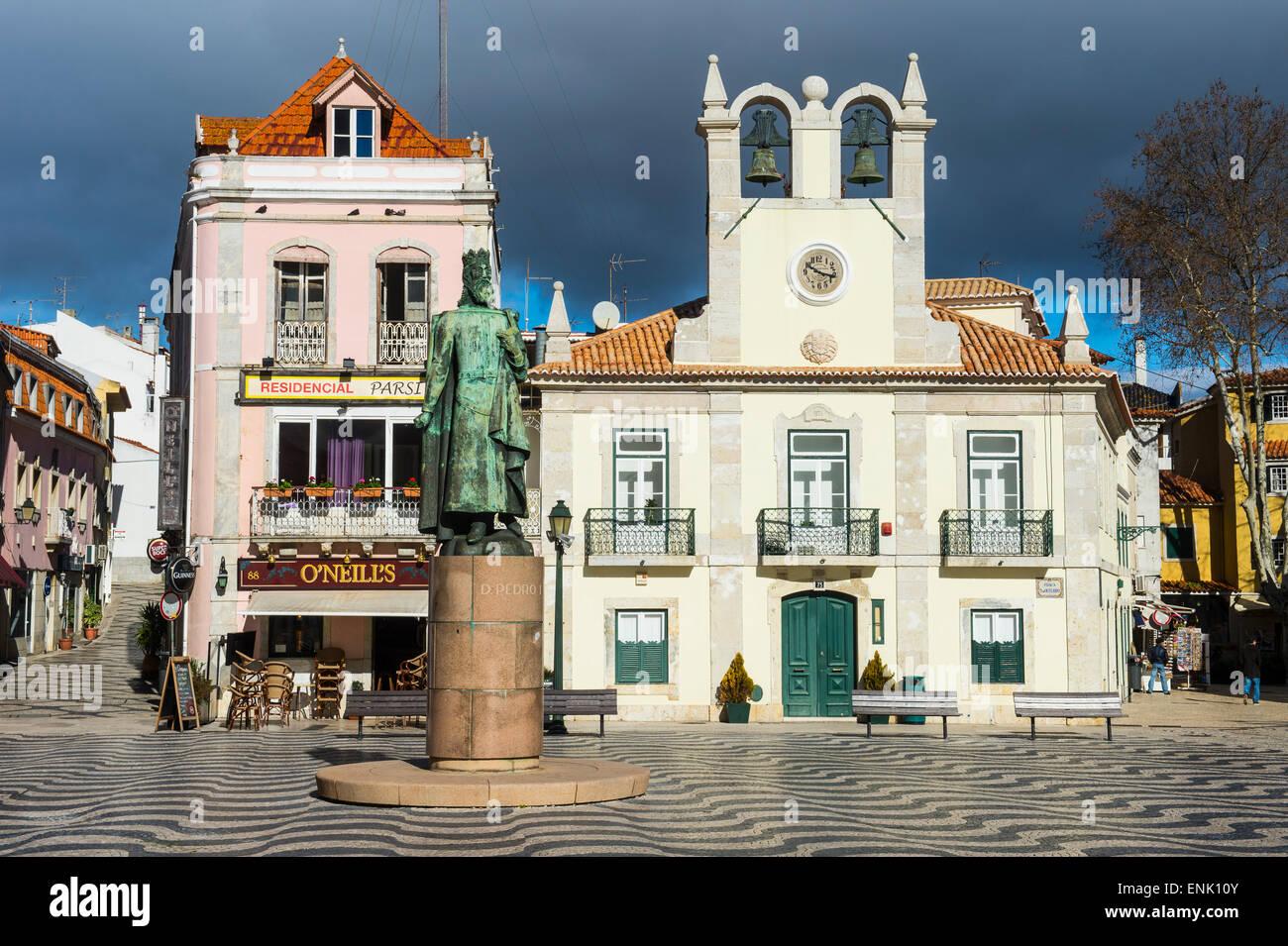 Passeio front Dom Luis, dans la station balnéaire de Cascais, Portugal, Europe Photo Stock