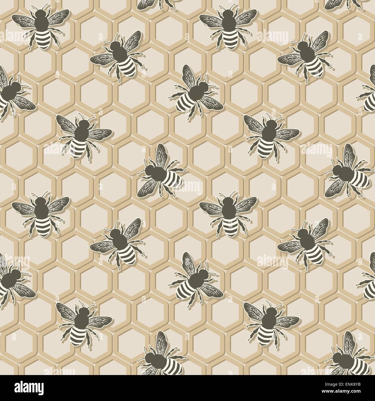 Modèle logique de l'abeille Photo Stock