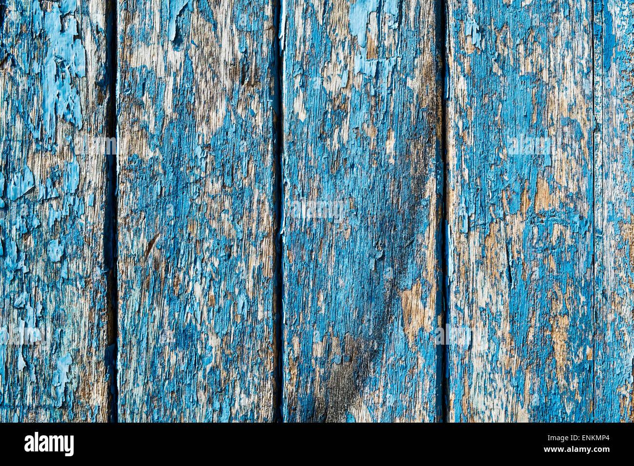 L'article de porte avec de la peinture bleue de déroulage Photo Stock