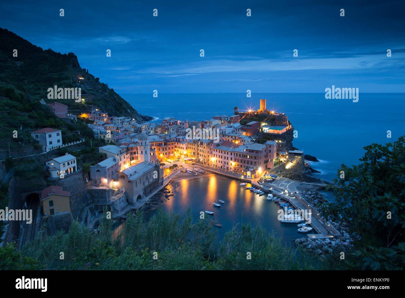 La Riviera Italienne représente la vie simple de l'océan. Photo Stock