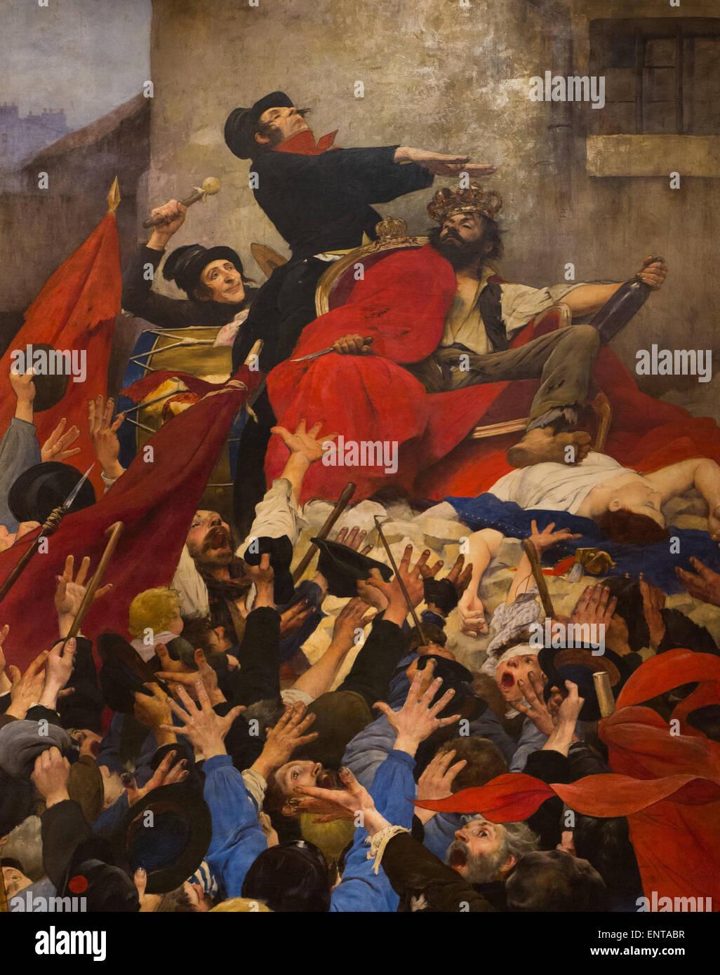 ActiveMuseum_0005945.jpg / Le triomphe de Robert Maccaire ou l'Apotheose ou le triomphe de l'blackguard Photo Stock