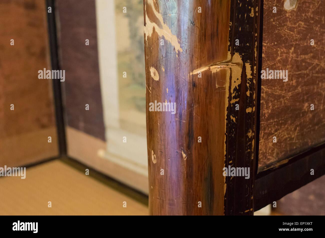 Épée samouraï Ryoma Sakamoto coupes à l'intérieur Restaurant Kagetsu, Nagasaki, Japon Photo Stock