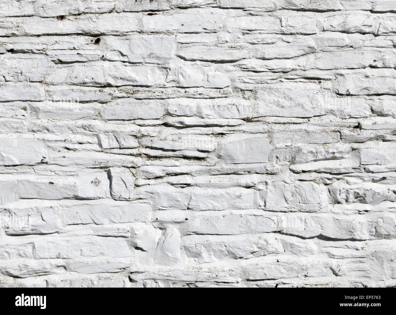 Peinture Blanche Aux Murs Blanchis à La Chaux Sur Mur De