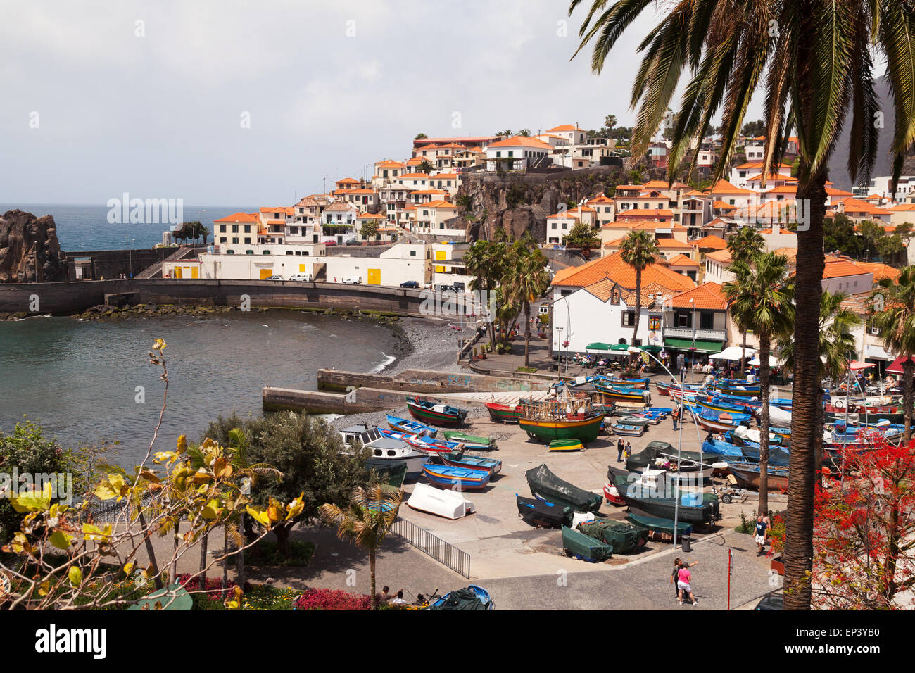 Le village de pêcheurs de Camara de Lobos, Madère, Europe Photo Stock