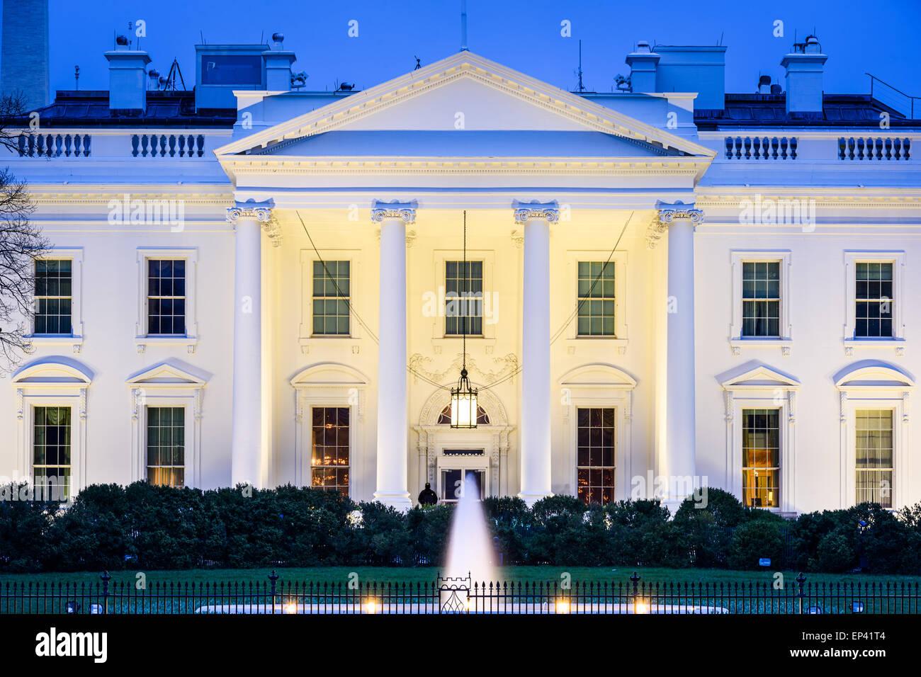 Washington, DC, à la Maison Blanche. Banque D'Images