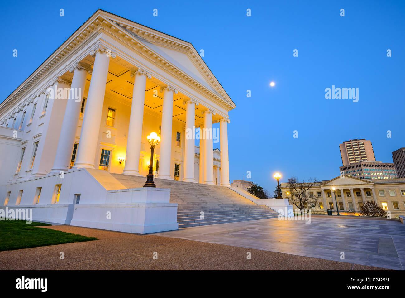 Richmond, Virginie, USA au bâtiment du Capitole. Photo Stock