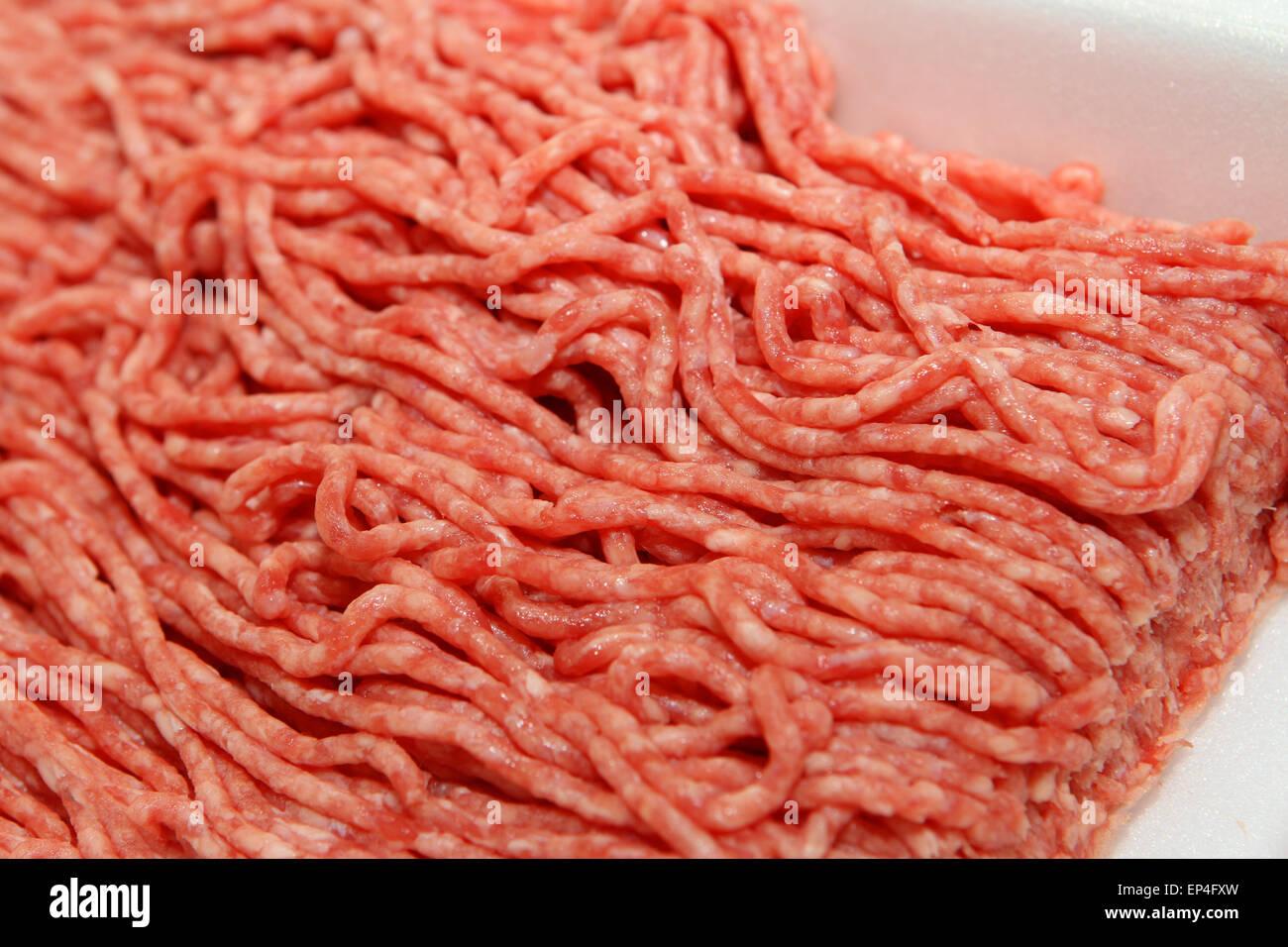 La viande hachée (bœuf haché), close-up Banque D'Images