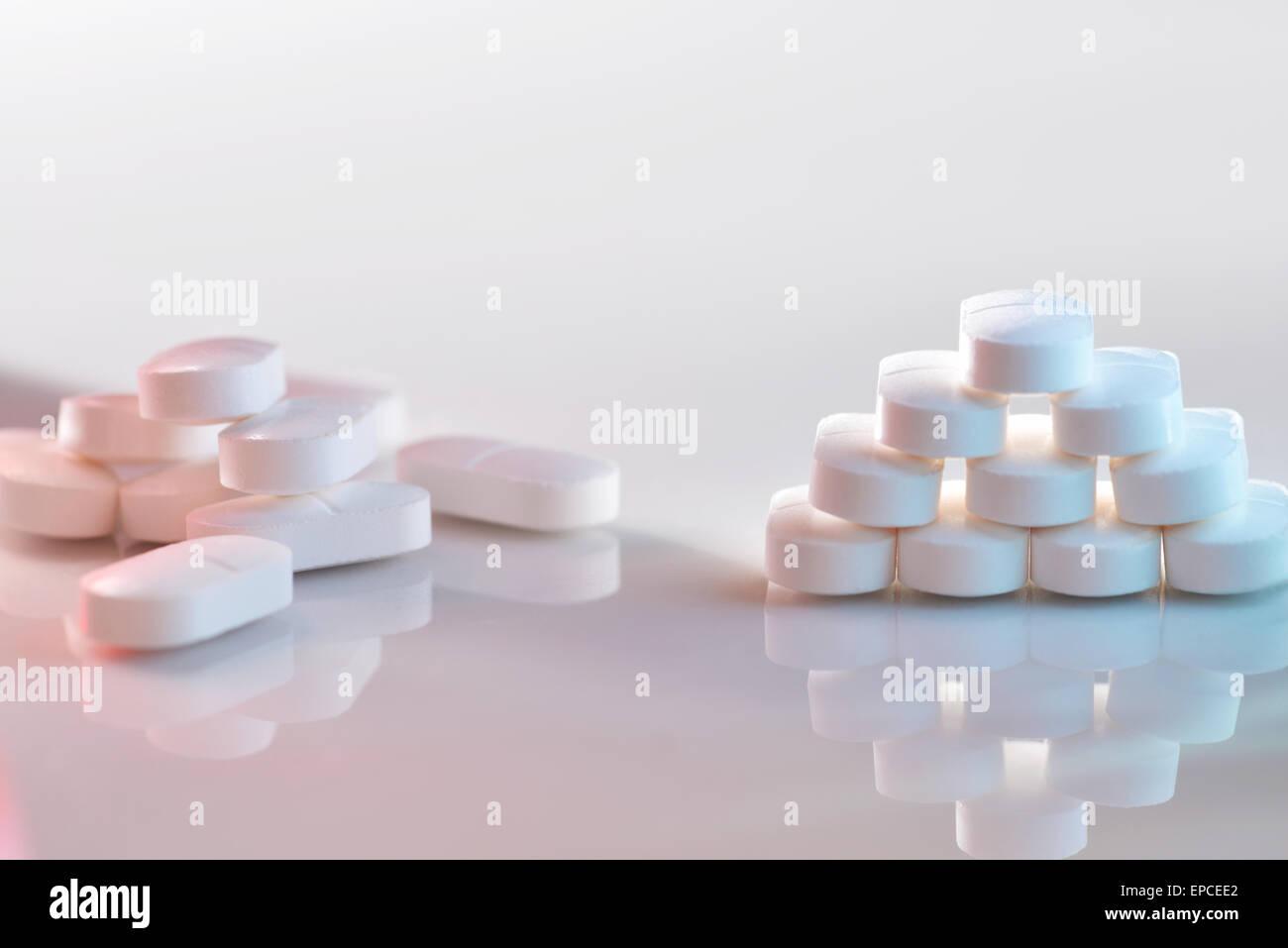 Les comprimés de paracétamol Photo Stock